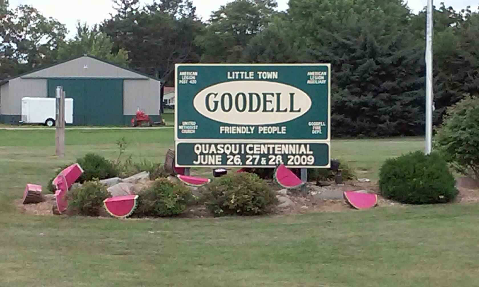 Goodell Welcome Sign